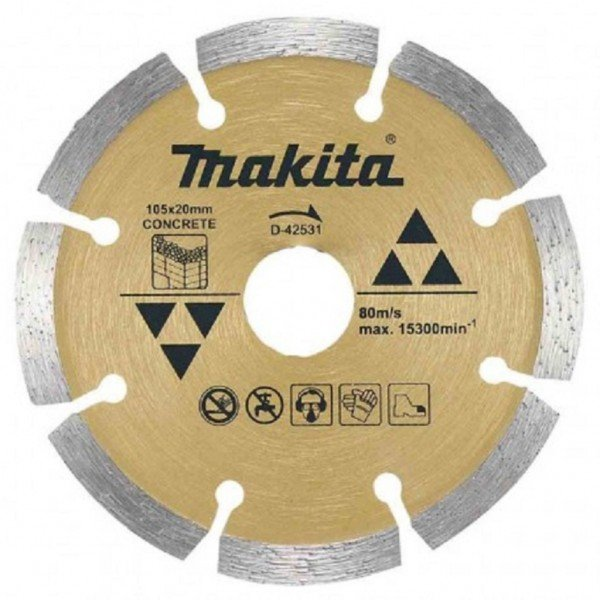 15817 disco diamantado segmentado 105 x 20 mm makita d 42531